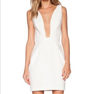 Finders Keepers White Plunge Dress